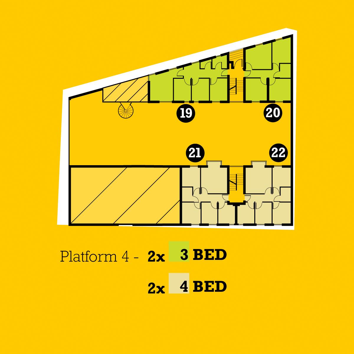 The Platform plans floor 4